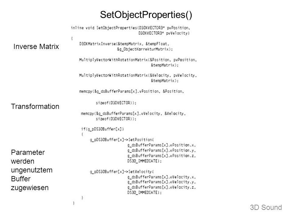 SetObjectProperties()