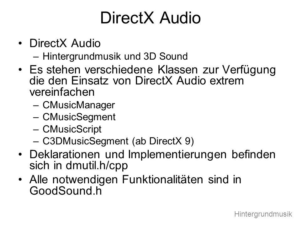 DirectX Audio DirectX Audio