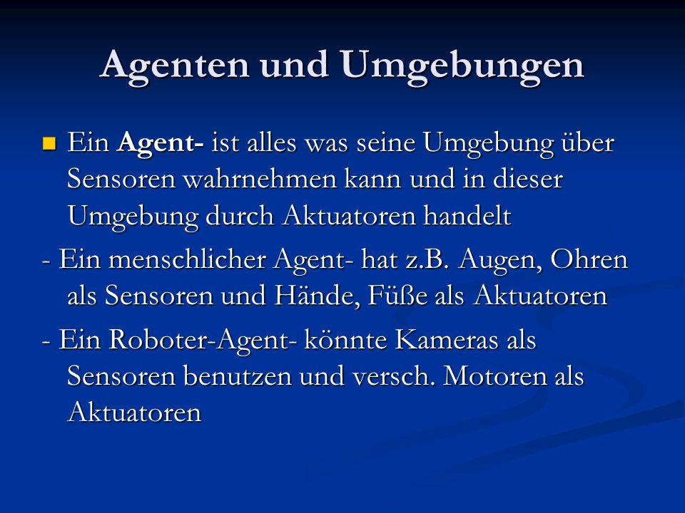 Agenten und Umgebungen