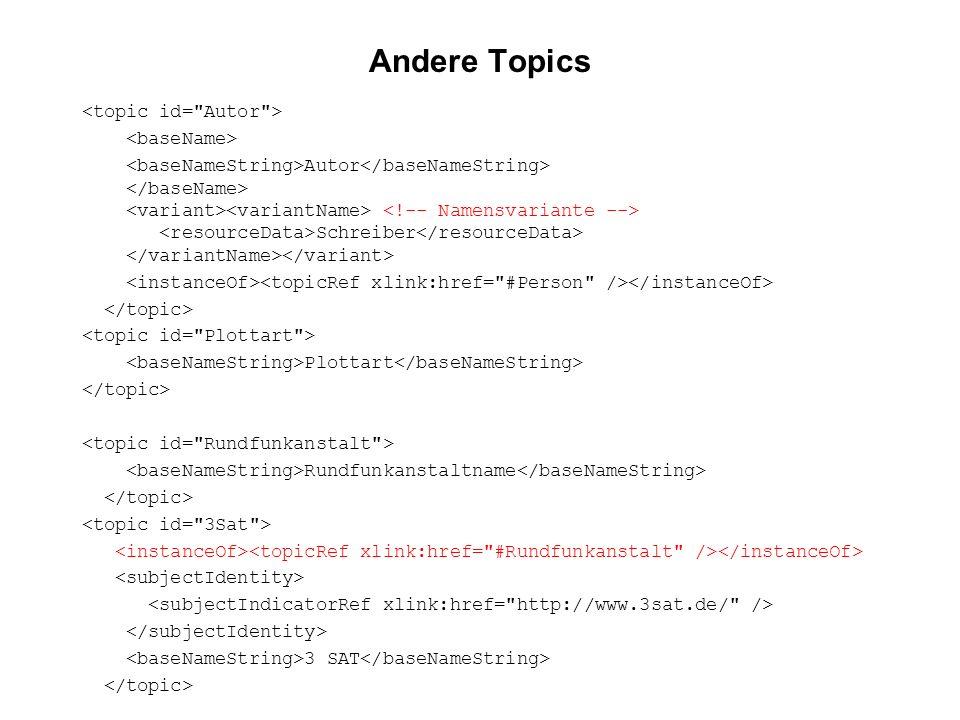 Andere Topics <topic id= Autor > <baseName>