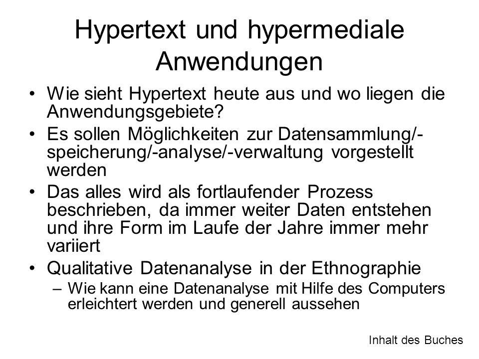 Hypertext und hypermediale Anwendungen