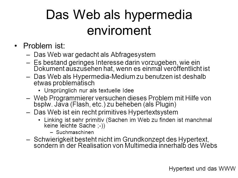 Das Web als hypermedia enviroment