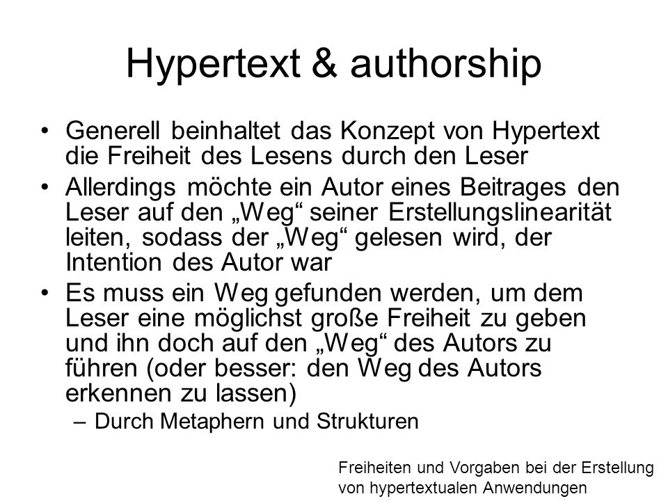 Hypertext & authorship