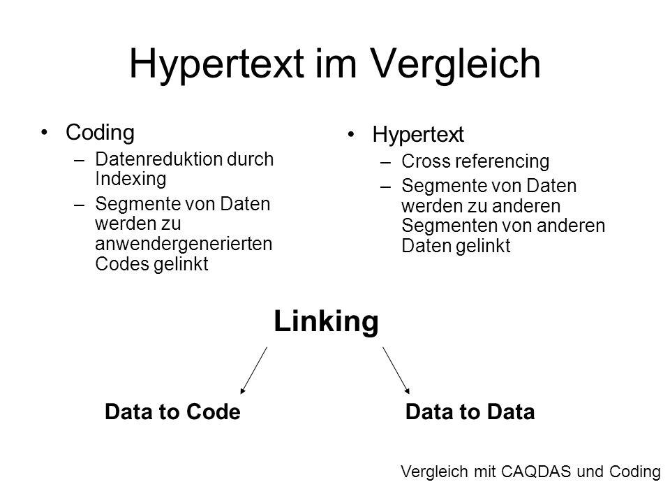 Hypertext im Vergleich