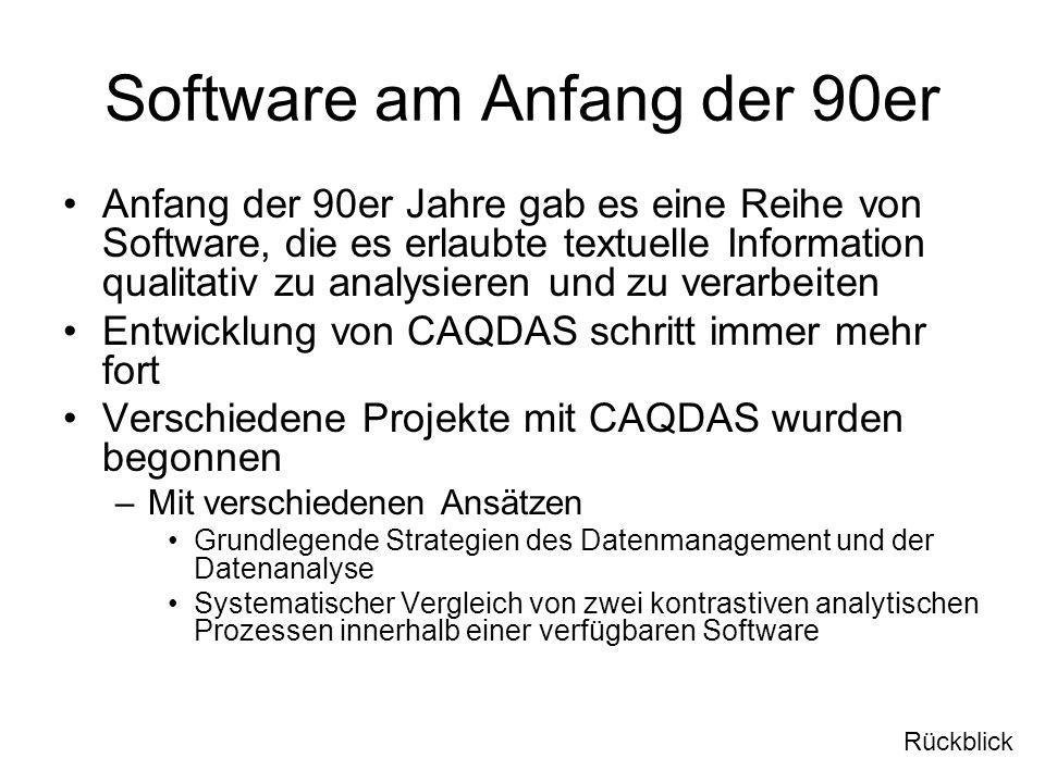 Software am Anfang der 90er