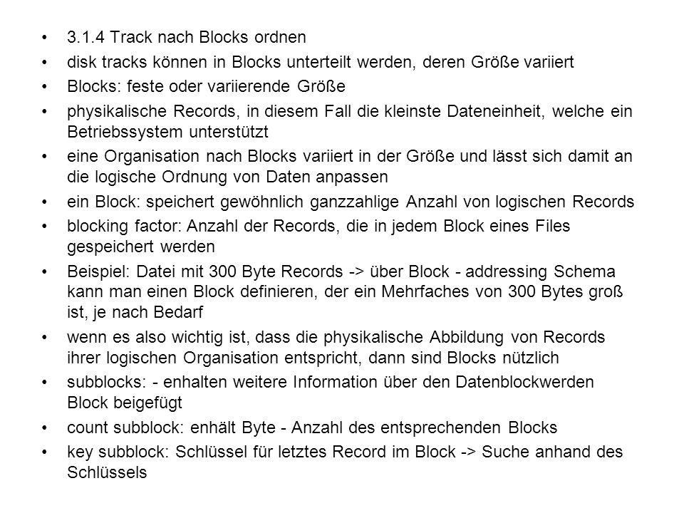 3.1.4 Track nach Blocks ordnen