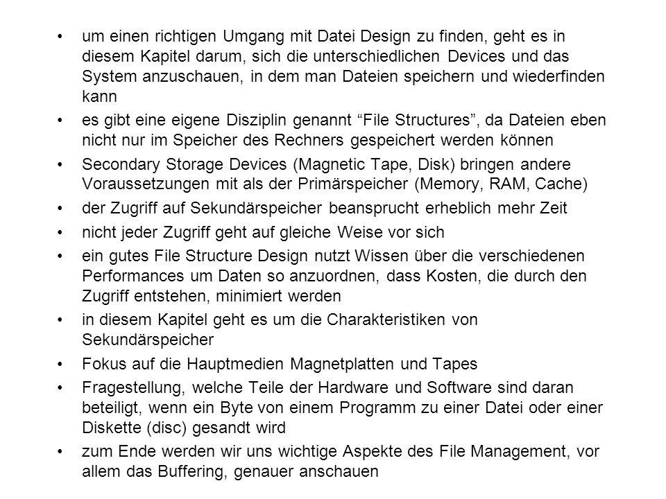 um einen richtigen Umgang mit Datei Design zu finden, geht es in diesem Kapitel darum, sich die unterschiedlichen Devices und das System anzuschauen, in dem man Dateien speichern und wiederfinden kann