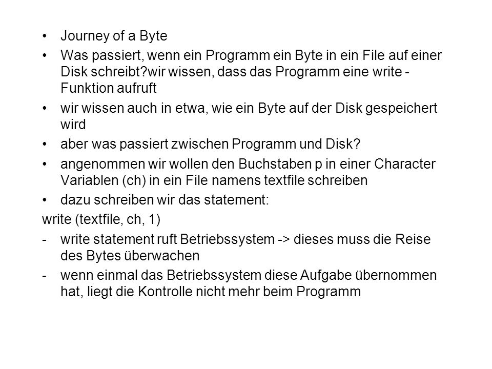Journey of a Byte