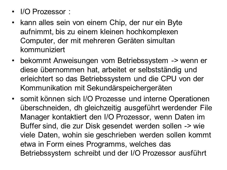 I/O Prozessor :
