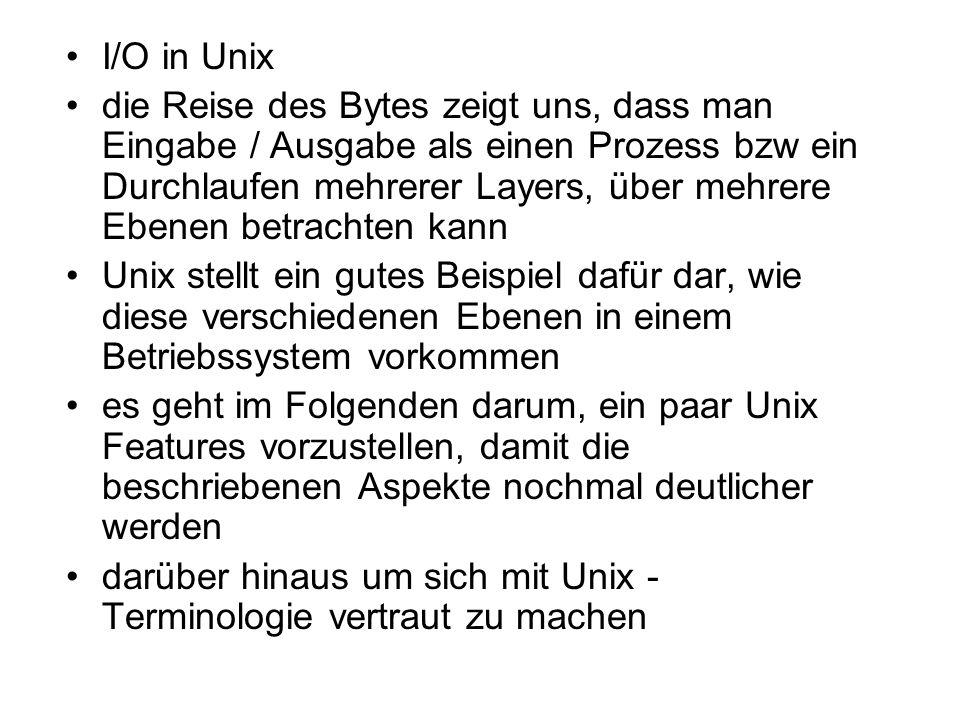 I/O in Unix