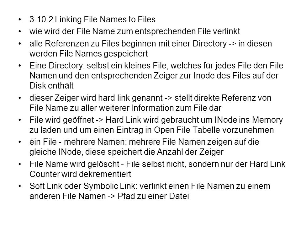 Linking File Names to Files