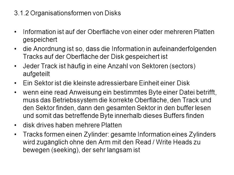 3.1.2 Organisationsformen von Disks