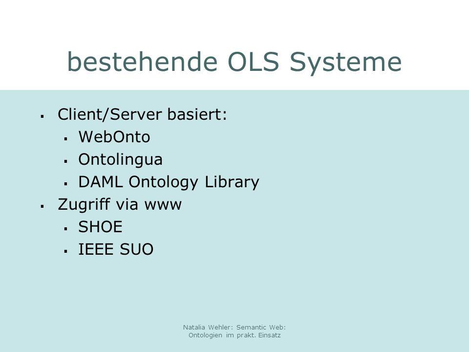 bestehende OLS Systeme