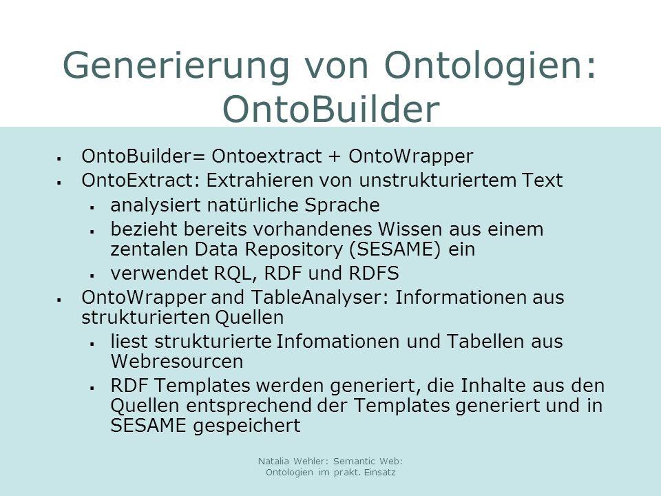 Generierung von Ontologien: OntoBuilder