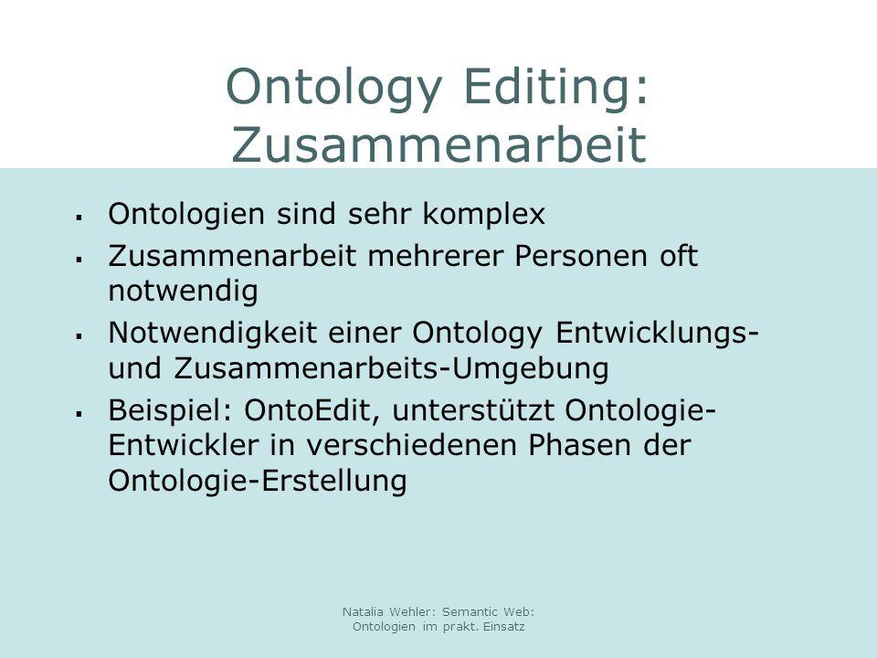 Ontology Editing: Zusammenarbeit