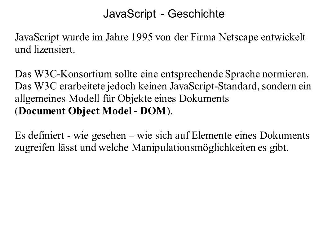 JavaScript - Geschichte