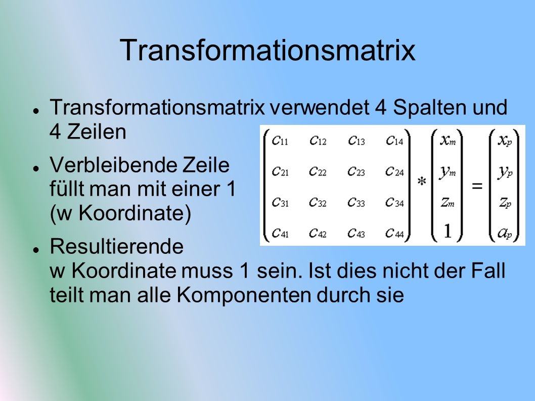 Transformationsmatrix