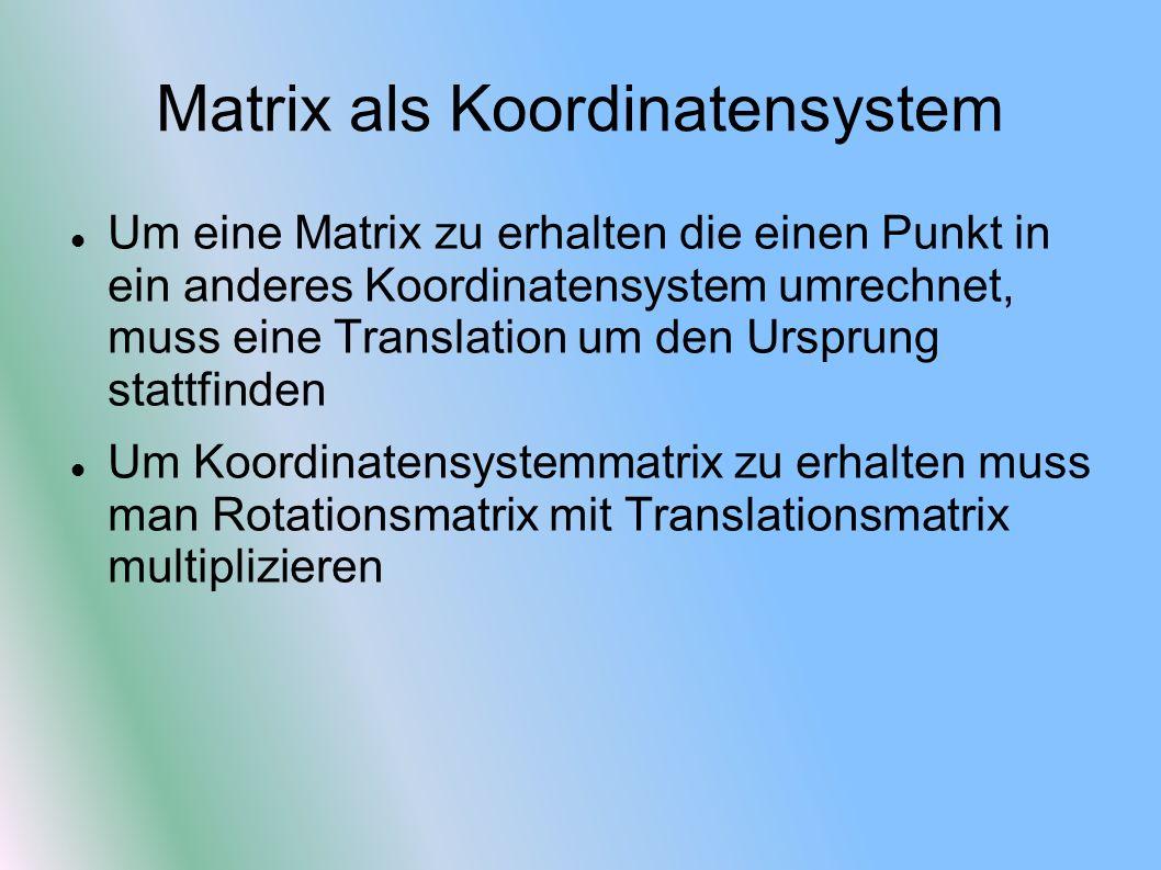 Matrix als Koordinatensystem