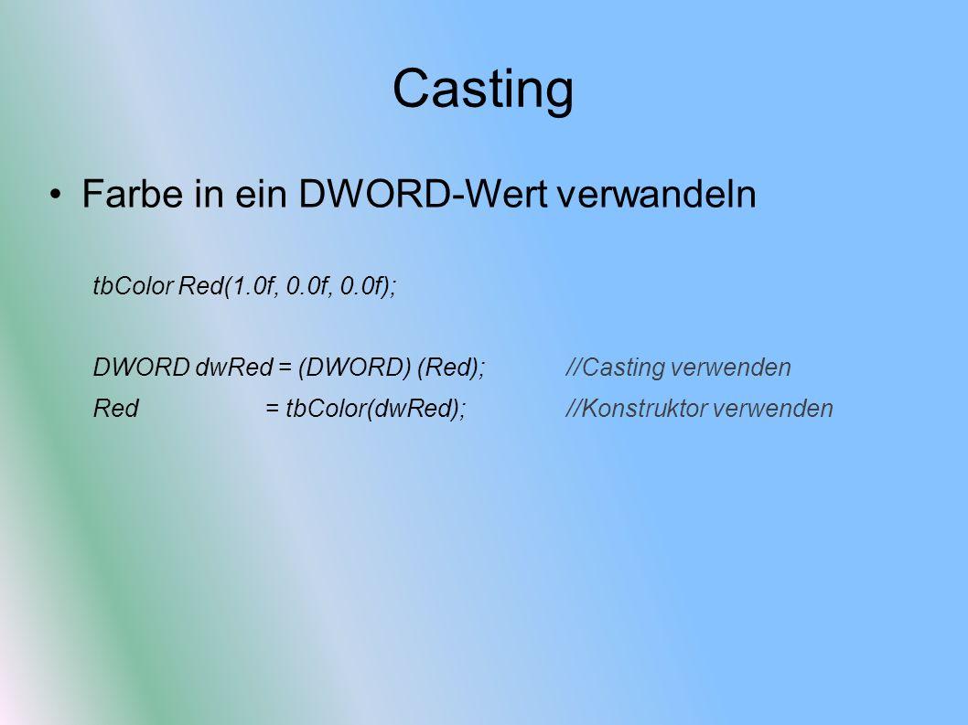 Casting Farbe in ein DWORD-Wert verwandeln