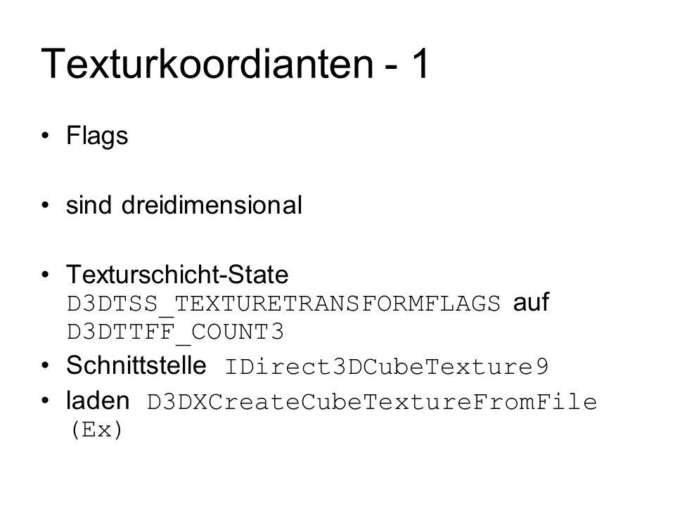 Texturkoordianten - 1 Flags sind dreidimensional