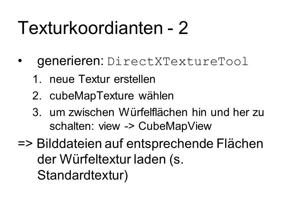 Texturkoordianten - 2 generieren: DirectXTextureTool