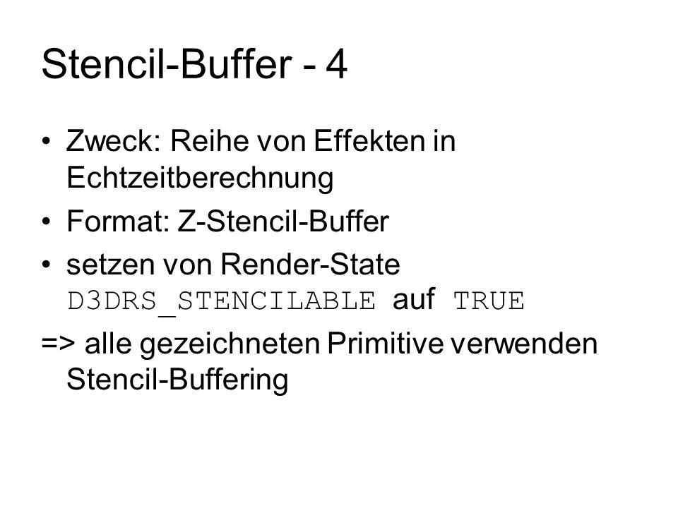 Stencil-Buffer - 4 Zweck: Reihe von Effekten in Echtzeitberechnung