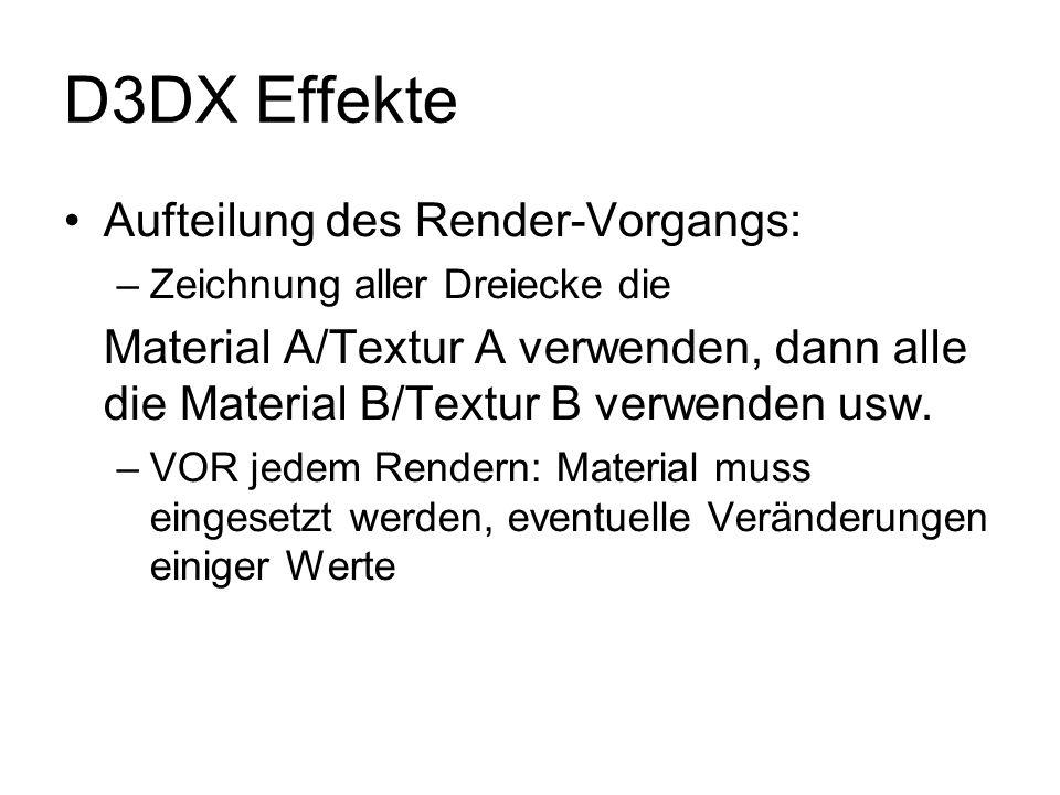 D3DX Effekte Aufteilung des Render-Vorgangs: