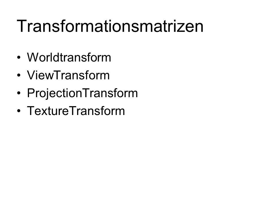 Transformationsmatrizen