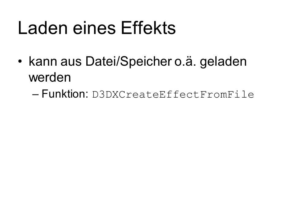 Laden eines Effekts kann aus Datei/Speicher o.ä. geladen werden