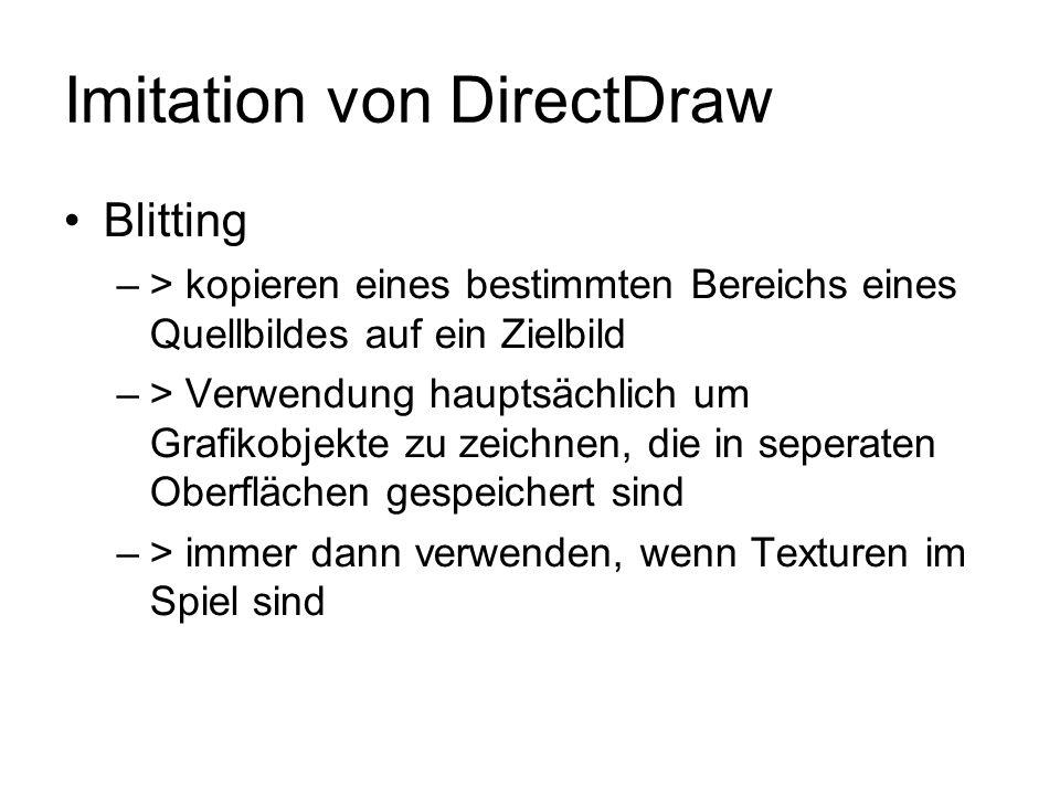 Imitation von DirectDraw