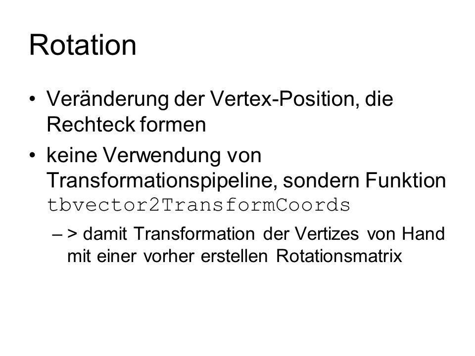 Rotation Veränderung der Vertex-Position, die Rechteck formen