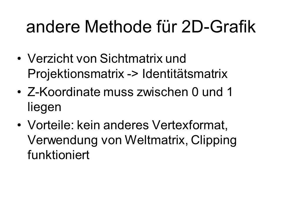 andere Methode für 2D-Grafik