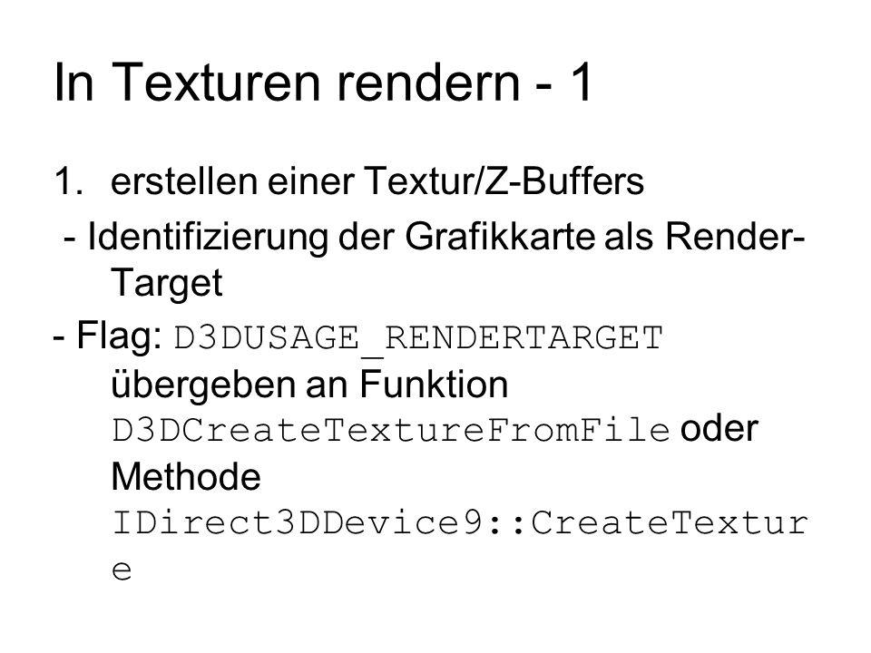 In Texturen rendern - 1 erstellen einer Textur/Z-Buffers