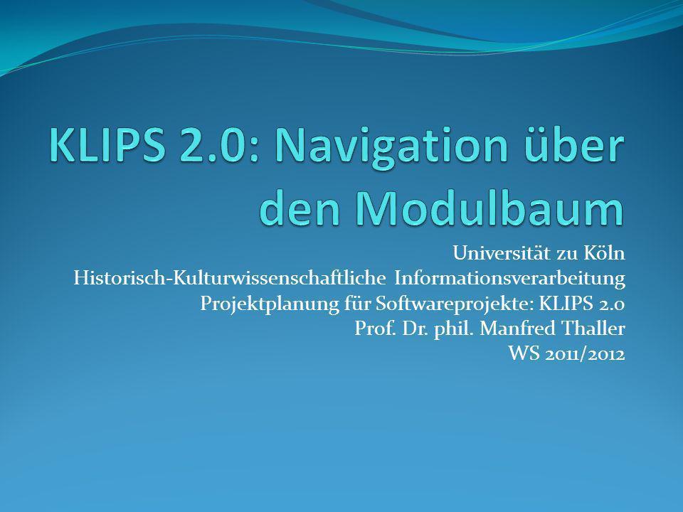KLIPS 2.0: Navigation über den Modulbaum