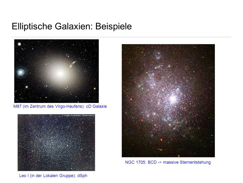 Elliptische Galaxien: Beispiele