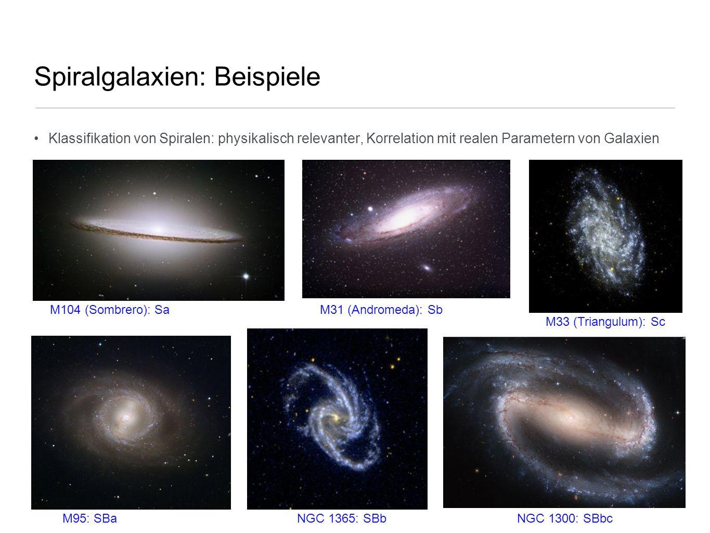 Spiralgalaxien: Beispiele