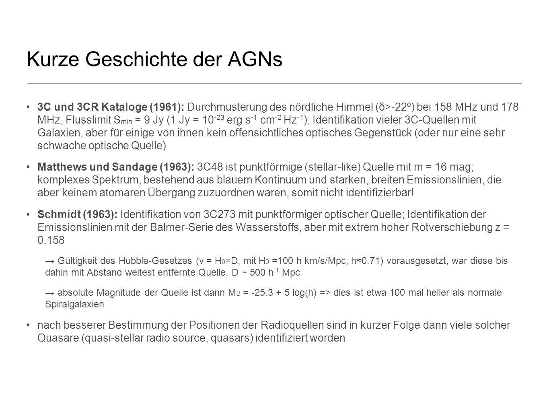 Kurze Geschichte der AGNs