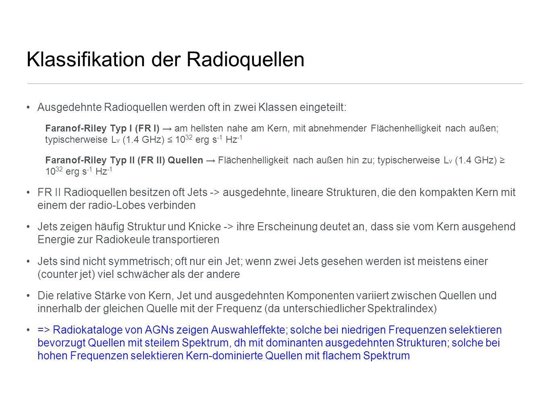 Klassifikation der Radioquellen