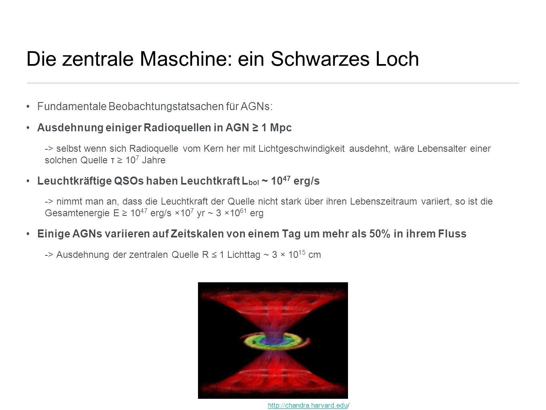 Die zentrale Maschine: ein Schwarzes Loch