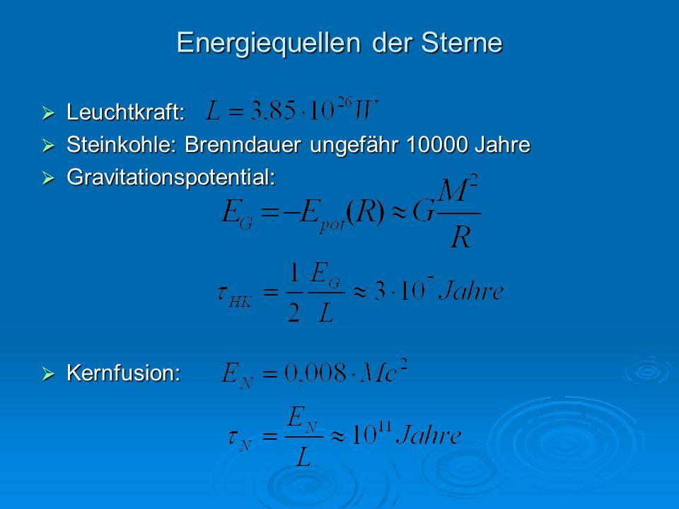 Energiequellen der Sterne
