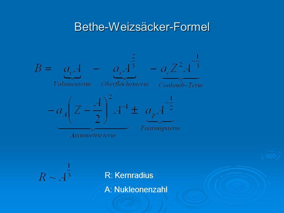 Bethe-Weizsäcker-Formel