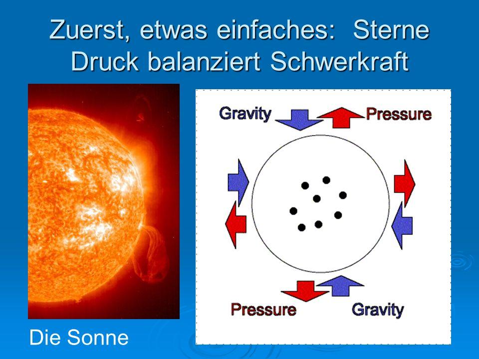 Zuerst, etwas einfaches: Sterne Druck balanziert Schwerkraft