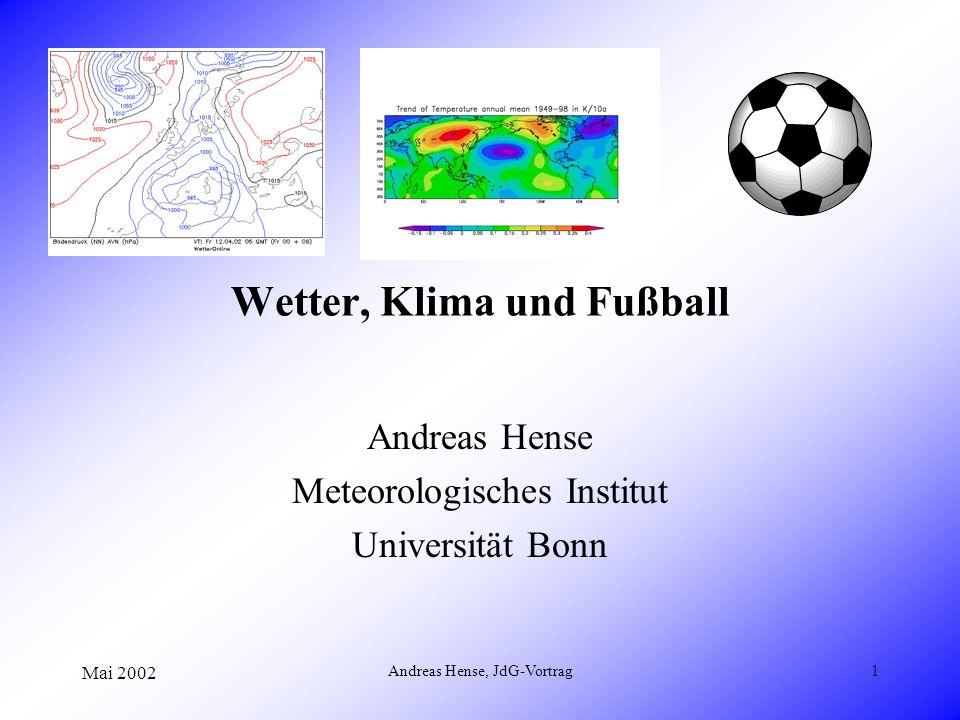 Wetter, Klima und Fußball
