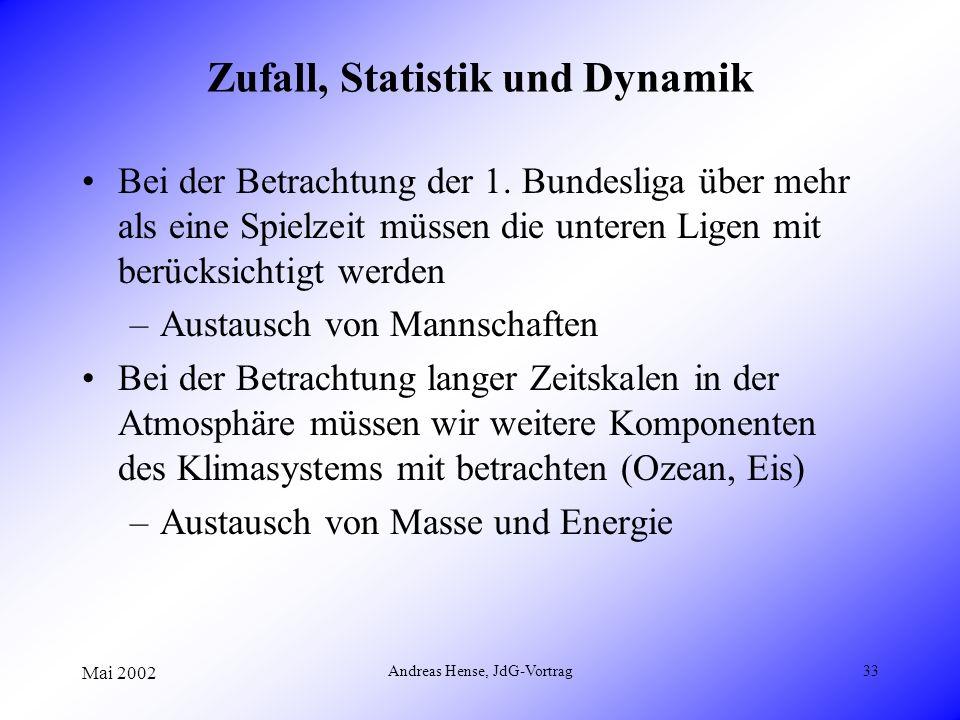 Zufall, Statistik und Dynamik