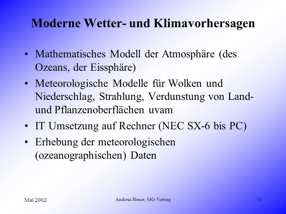 Moderne Wetter- und Klimavorhersagen
