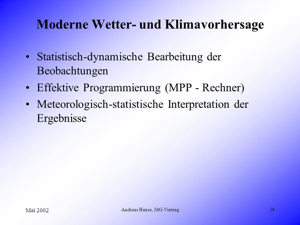 Moderne Wetter- und Klimavorhersage
