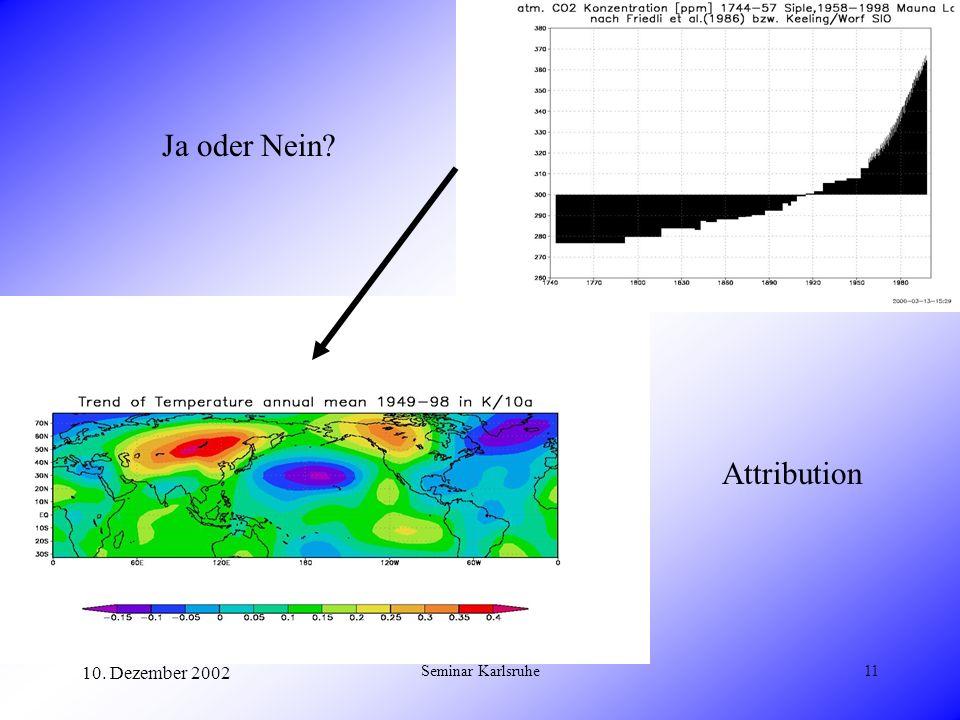 Ja oder Nein Attribution 10. Dezember 2002 Seminar Karlsruhe