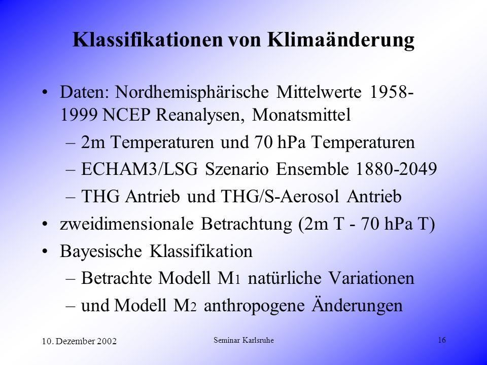 Klassifikationen von Klimaänderung