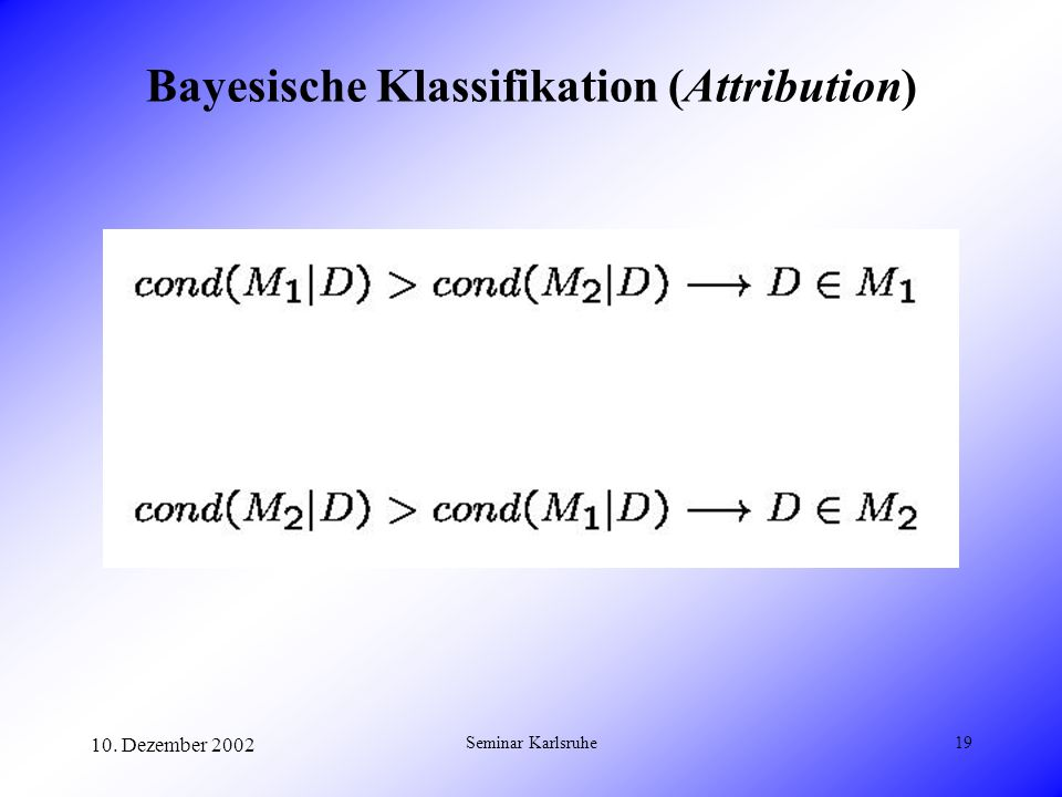 Bayesische Klassifikation (Attribution)