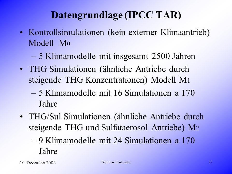 Datengrundlage (IPCC TAR)